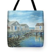 Seaside Cottages Tote Bag