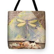 Seaside Dragonfly Tote Bag