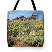 Seaside Flowers Tote Bag
