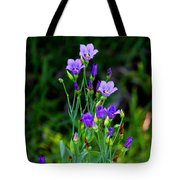 Seaside Gentian Wildflower  Tote Bag