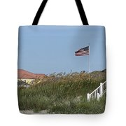 Seaside Patriotism Tote Bag