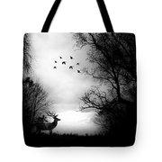Seasons End Deer Geese Tote Bag