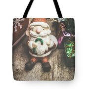 Seasons Greeting Santa Tote Bag
