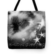 Seasons Greetings Bw Tote Bag