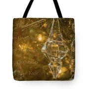 Seasons Greetings, Happy Holidays, Merry Christmas, Happy New Year Tote Bag