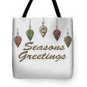 Seasons Greetings Merry Christmas Tote Bag