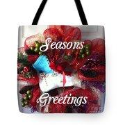 Seasons Greetings Old Skate Tote Bag