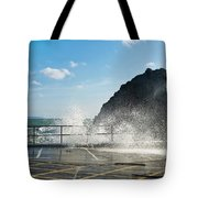 Seaspray At Mevagissey Harbour 2 Tote Bag