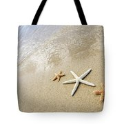 Seastars On Beach Tote Bag