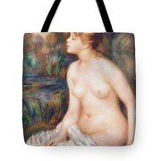 Seated Female Nude Tote Bag