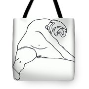 Seated Figure Tote Bag