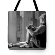 Seated In The Darkness Tote Bag