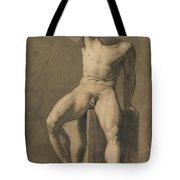 Seated Male Nude Tote Bag