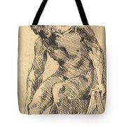 Seated Male Nude (sitzender M?nnlicher Akt) Tote Bag