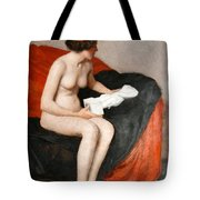 Seated Nude With Sculpture Tote Bag