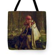 Seated Shepherdess Tote Bag