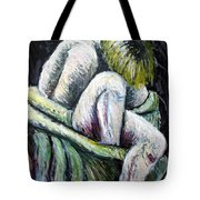 Seated Woman Abstract Tote Bag