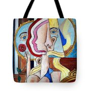 Seated Woman Tote Bag