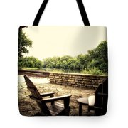 Seating For Two By The Creek Tote Bag
