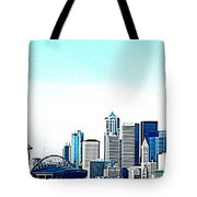 Seattle Blue Tote Bag