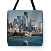 Seattle By Ferry Tote Bag