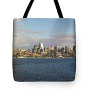 Seattle City Skyline Along Lake Union Tote Bag