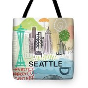 Seattle Cityscape- Art By Linda Woods Tote Bag