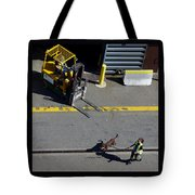 Seattle Dog On The Pier  Tote Bag