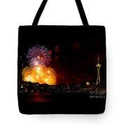 Seattle Fireworks Tote Bag