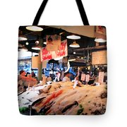 Seattle Fish Throw Pike St Market Tote Bag