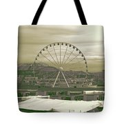 Seattle Great Wheel And Pier 57 Tote Bag