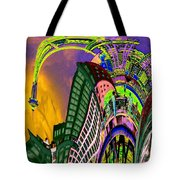 Seattle In Daliland Tote Bag