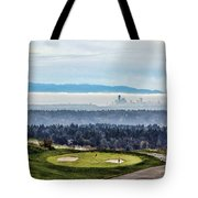 Seattle In The Fog Tote Bag