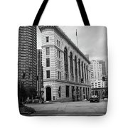 Seattle - Misty Architecture 2 Bw Tote Bag