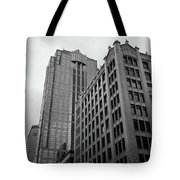 Seattle - Misty Architecture 3 Bw Tote Bag