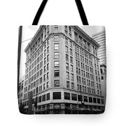 Seattle - Misty Architecture Bw Tote Bag