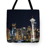 Seattle Night Sky Tote Bag