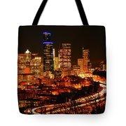 Seattle Night Traffic Tote Bag
