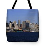 Seattle Panoramic Tote Bag by Adam Romanowicz