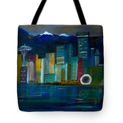 Seattle Skyiline Tote Bag