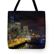 Seattle Skyline By The Pier Tote Bag