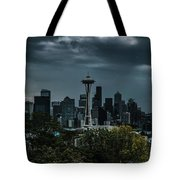 Seattle Skyline - Dramatic Tote Bag
