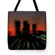 Seattle Skyline Motion Tote Bag