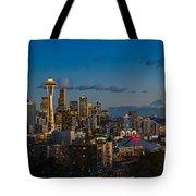 Seattle Skyline Panorama Tote Bag