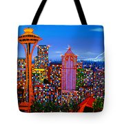 Seattle Space Needle 5 Tote Bag