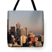 Seattle Sunset Panorama Tote Bag