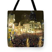 Seattle Westlake Tree Lighting Tote Bag