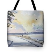 Seawall After Rain Tote Bag