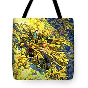 Seaweed On Rock In Ocean Tote Bag