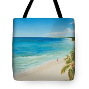 Secluded Beach Walk Tote Bag